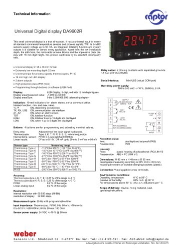 Universal Digital display DA9602R
