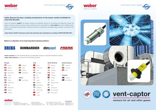vent- captor/Sensors for air and other gases