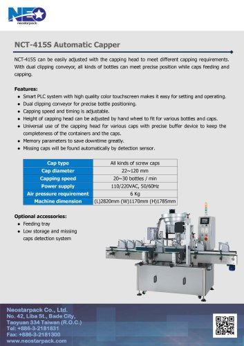 Automatic Capper NCT-415S
