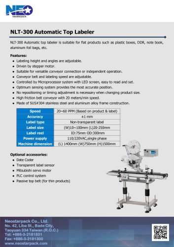 Automatic Top Labeler NLT-300