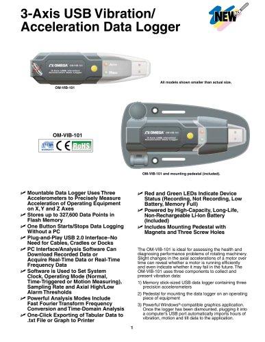 3-Axis USB Vibration/ Acceleration Data Logger