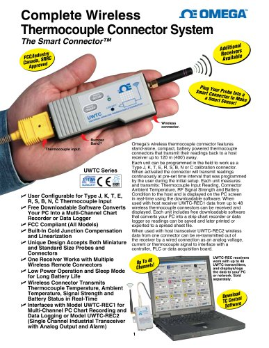 Complete Wireless Thermocouple Connector System
