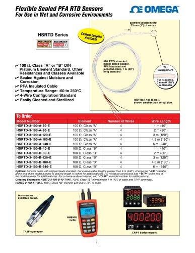 Flexible Sealed PFA RTD Sensors
