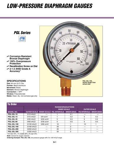 LOW-PRESSURE Diaphragm GAUGES