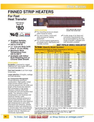 OTF Strip Heater Series