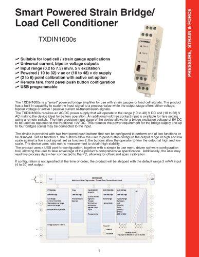 Smart Powered Strain Bridge/ Load Cell Conditioner