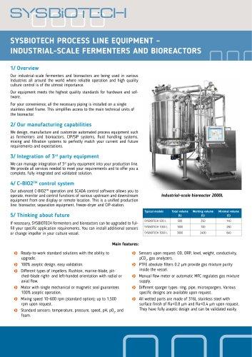 Industrial-scale fermenters and bioreactors