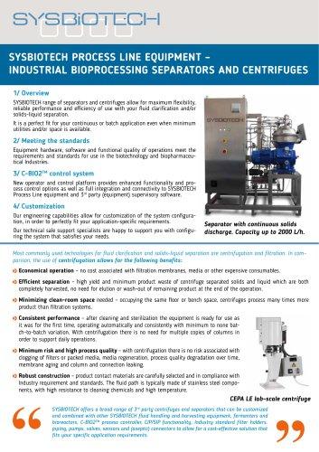 Separators and centrifuges