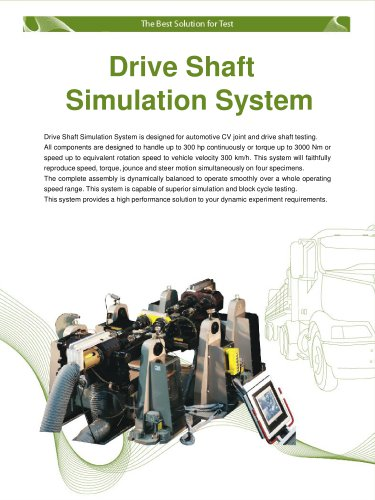 Drive Shaft Simulation System