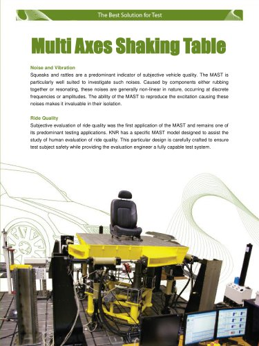 Multi Axes Shaking Table