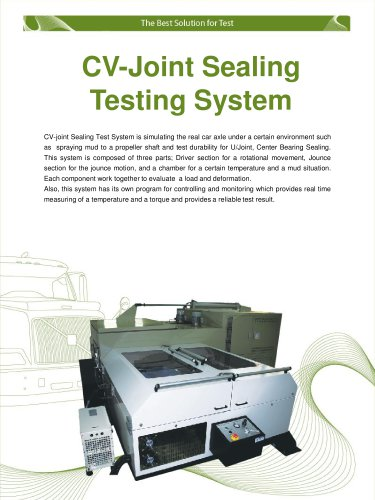 Propeller Shaft Joint Sealing Testing System