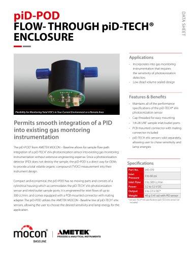 Baseline Flo-through piD-Tech Enclosure