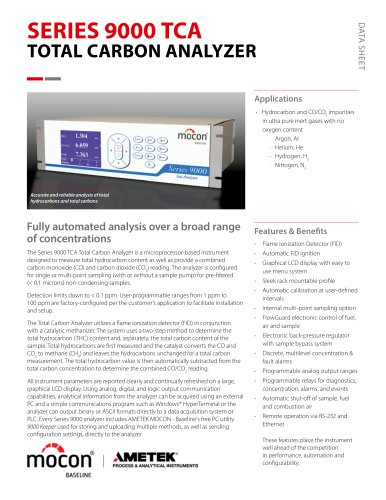 Baseline Series 9000 TCA Total Carbon Analyzer