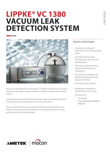 Dansensor LIPPKE VC1380 Leak Detector for Medical/Pharmaceutical Packaging