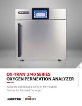 OX-TRAN 2/40 Permeation Analyzer for Finished Packages