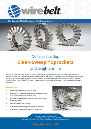 Clean-Sweep™ sprockets