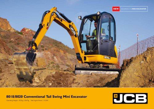 8018/8020 Conventional Tail Swing Mini Excavator