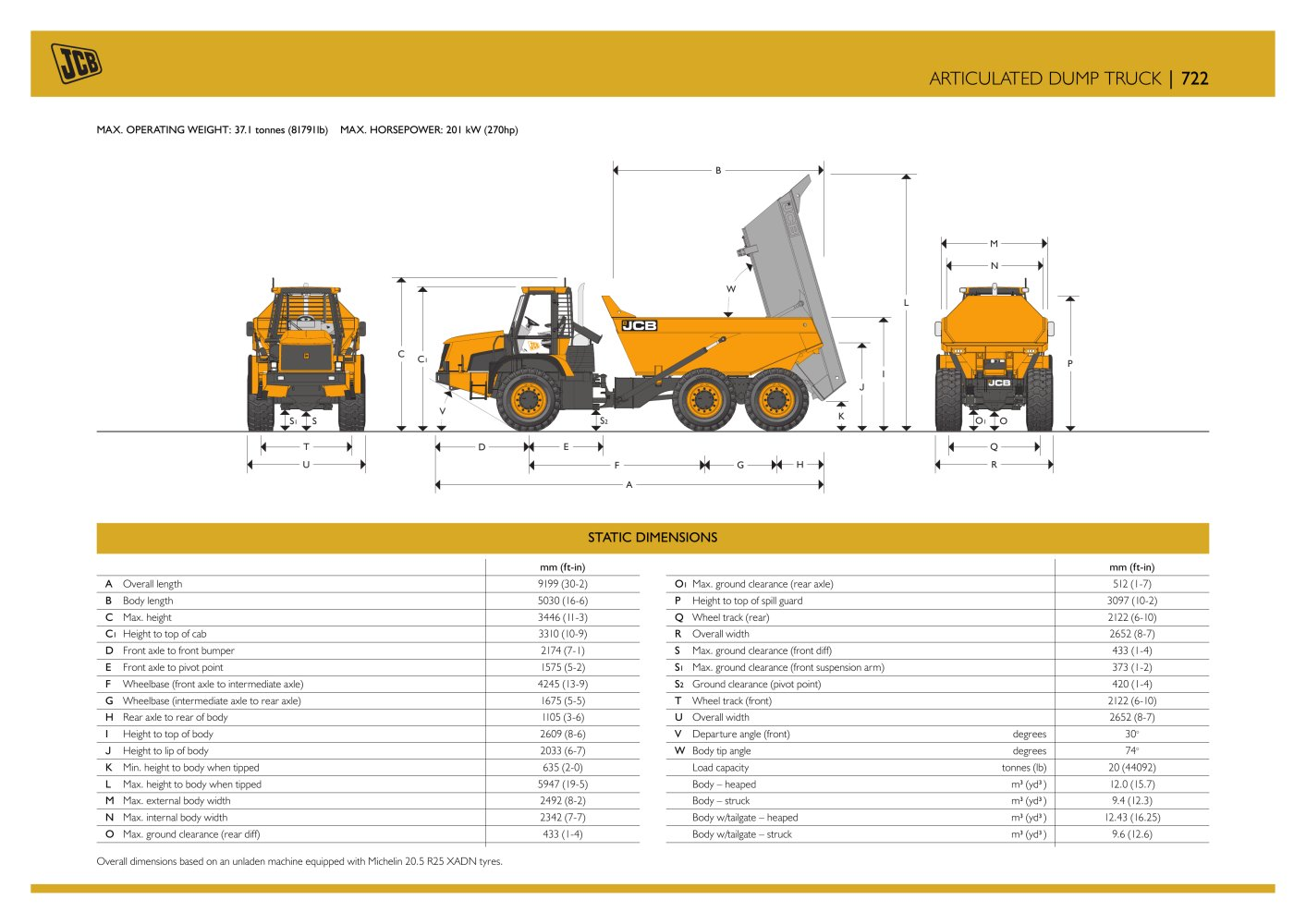 Articulated Dump Track 722 Jcb Pdf Catalogue Technical Wiring Diagram 3cx 1 4 Pages