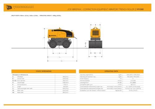 JCB VIBROMAX ? COMPACTION EQUIPMENT VIBRATORY TRENCH ROLLER | VM1500