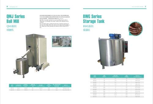 GUSU-Ball mill & Chocolate holding tank