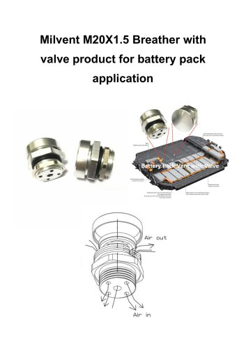 metal battery pack vents for 2~20L battery pack