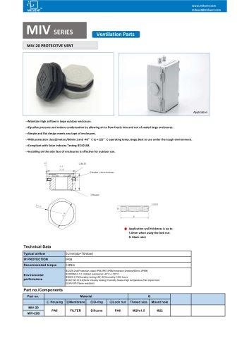 Waterproof Breather Vent Plug M20x1.5