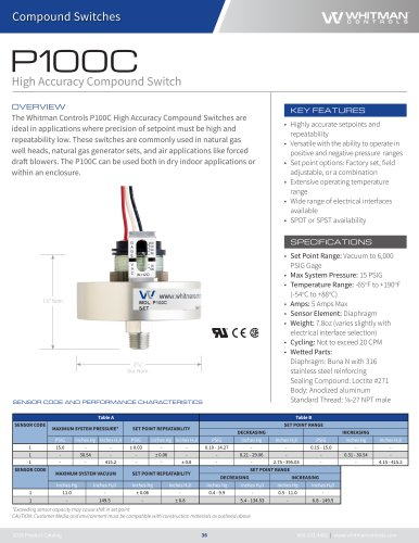 P100C High Accuracy Compound Switch