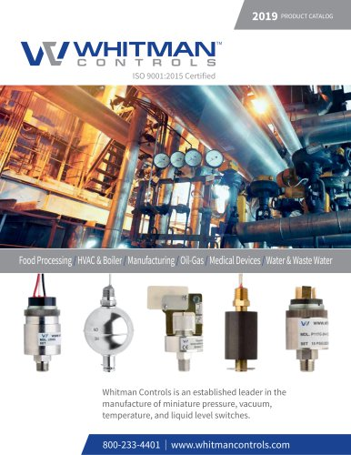 Whitman Control | 2019 Full Product Catalog