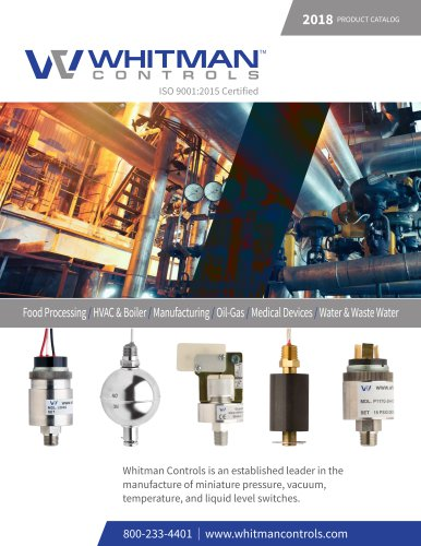 Whitman Controls 2018-2019 Full Product Catalog