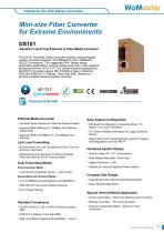 DS101_Industrial 1-port Fast Ethernet to Fiber Media Converter   WoMaster