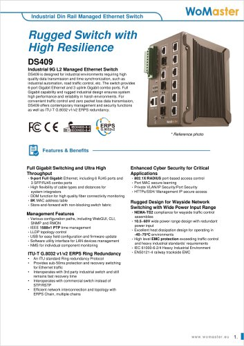 DS409 Industrial 9G L2 Managed Ethernet Switch   WoMaster