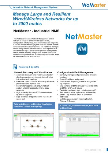 NetMaster Industrial Network Management System   WoMaster