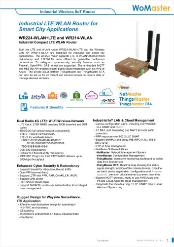 WR224 - Industrial Compact LTE/WiFi Router