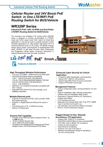 WR329/WR329P Series