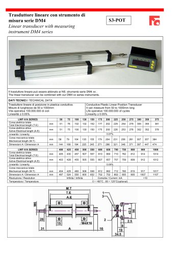 Linear transducer with measuring instrument DM4 series