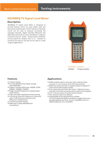 GD300DQ TV Signal Level Meter