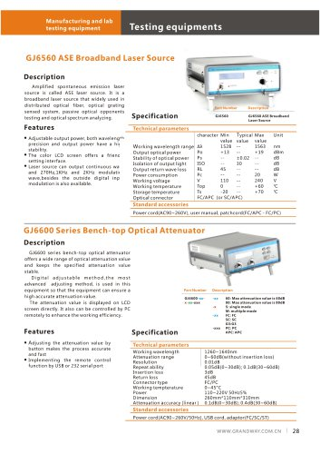 GJ6560 ASE Broadband Laser Source