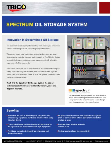 Spectrum Oil Storage System