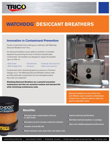 Watchdog Desiccant Breathers