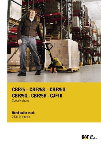 Hand pallet truck 2.5 (1.0) tonnes