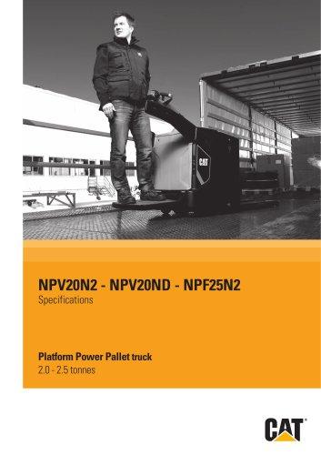 Platform Power Pallet truck
