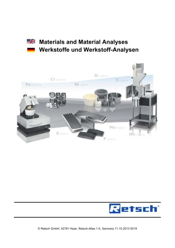 Material Analyses of Equipment & Accessories