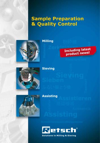 Milling & Sieving for preparation and quality control