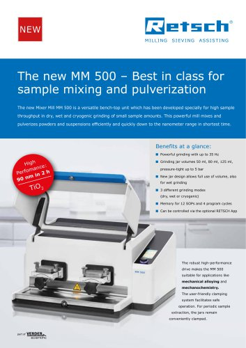 New Mixer Mill MM 500