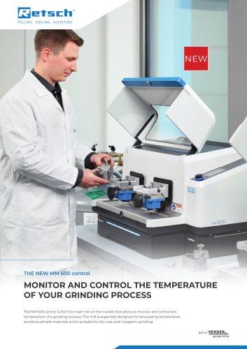 New Mixer Mill MM 500 control