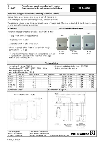 [DIAGRAM_1CA]  All ZIEHL-ABEGG catalogs and technical brochures | Ziehl Abegg Motor Wiring Diagram |  | Catalogs Directindustry