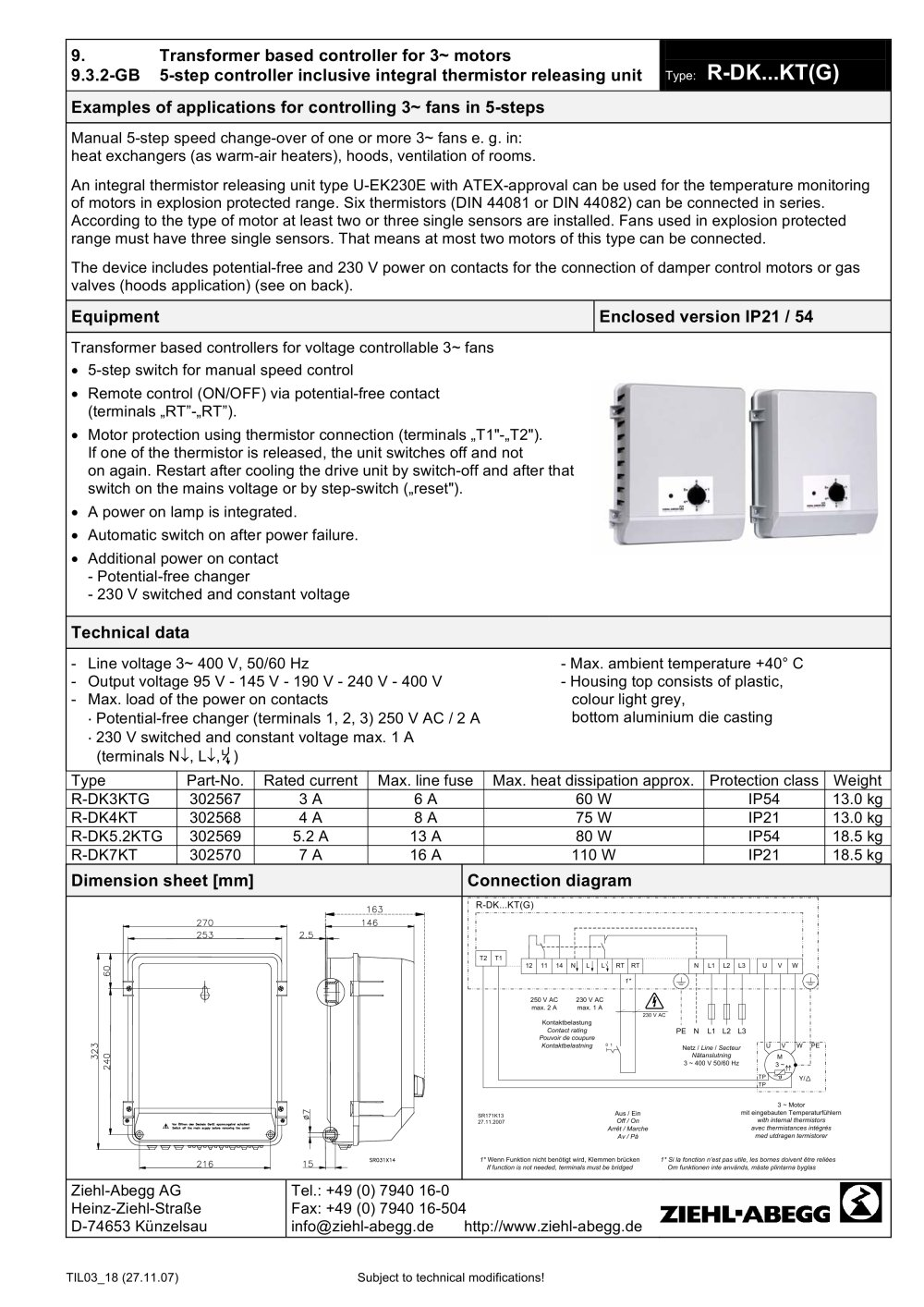 Ziehl Abegg Fans Wiring Diagram The Portal And Forum Of Og Vs Bacnet R Dk Kt G Pdf Catalogs Technical Documentation Rh Directindustry Com Fan Motor Ec