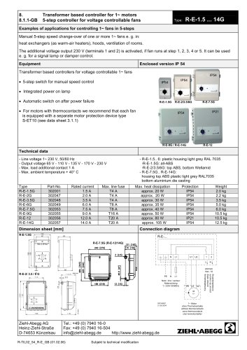 [TVPR_3874]  All ZIEHL-ABEGG catalogs and technical brochures | Ziehl Abegg Motor Wiring Diagram |  | Catalogs Directindustry