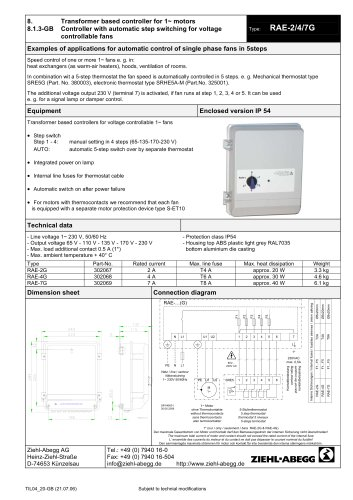 Zawheel Ziehl Abegg Pdf Catalogs Technical Documentation Brochure