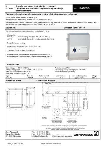 [GJFJ_338]  All ZIEHL-ABEGG catalogs and technical brochures | Ziehl Abegg Motor Wiring Diagram |  | Catalogs Directindustry